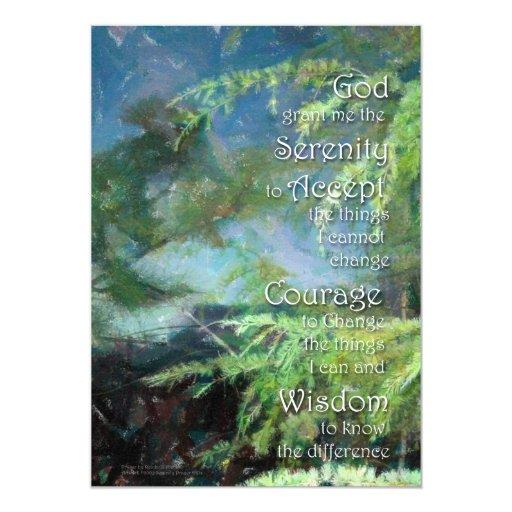 Serenity Prayer Pines Invitation