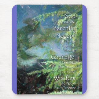 Serenity Prayer Pines Mouse Pad