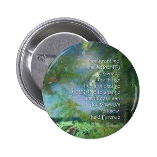 Serenity Prayer Pines Pinback Button