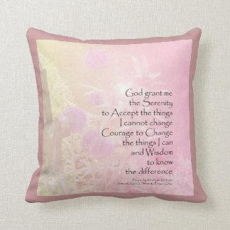 Serenity Prayer Pink Allium American MoJo Pillow