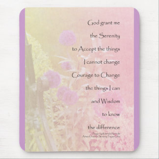 Serenity Prayer Pink Allium Mouse Pad