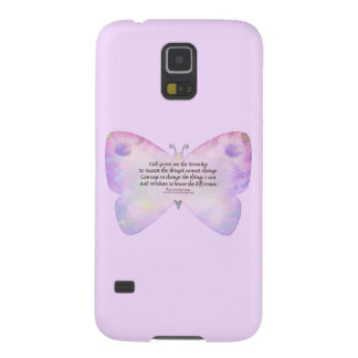 Serenity Prayer Pink and Lavender Butterfly Case For Galaxy S5
