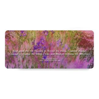 Serenity Prayer Pink and Orange Irises Card