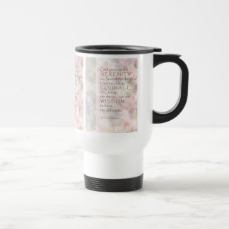 Serenity Prayer Pink Blossoms & Barn 15 Oz Stainless Steel Travel Mug