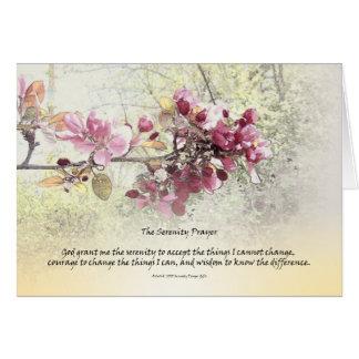 Serenity Prayer Pink Blossoms Card