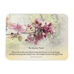 Serenity Prayer Pink Blossoms Rectangle Magnet