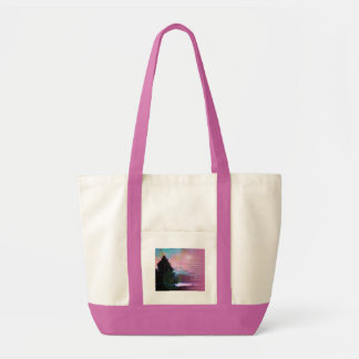 Serenity Prayer Pink Blue Sky Tree Tote Bag