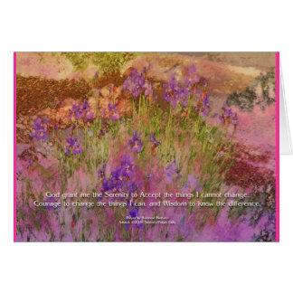 Serenity Prayer Pink & Orange Iris Card