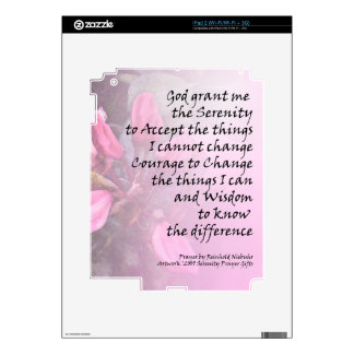 Serenity Prayer Pink Rhodies Decal For The iPad 2