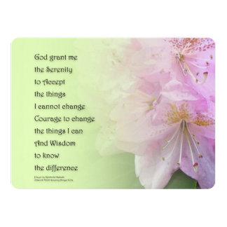 Serenity Prayer Pink Rhododendrons Card