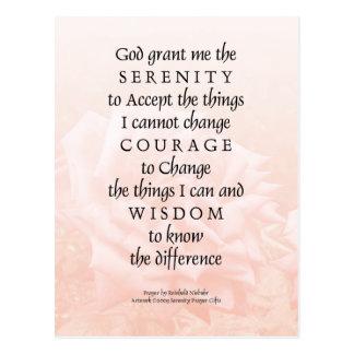 Serenity Prayer Pink Rose Blend 2 Postcard