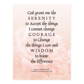 Serenity Prayer Pink Rose Blend 2 Postcards