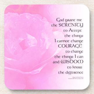 Serenity Prayer Pink Rose Blend Beverage Coaster