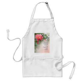 Serenity Prayer Pink Rose Two Buds Adult Apron