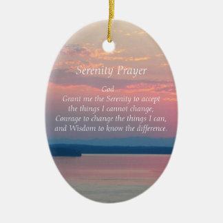Serenity Prayer Pink Seascape Ornament