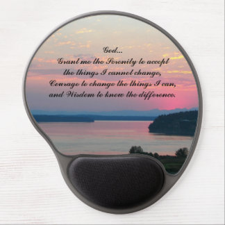 Serenity Prayer Pink Seascape Photo Gel Mouse Pad
