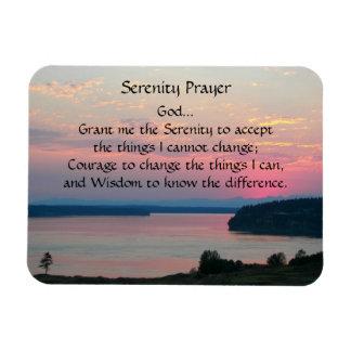 Serenity Prayer Pink Seascape Rectangular Photo Magnet