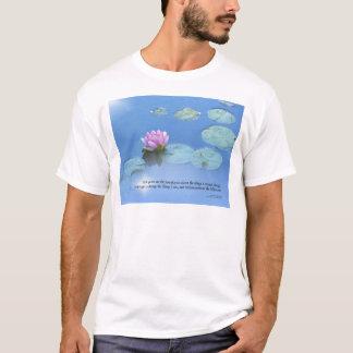 Serenity Prayer Pink Water Lily T-Shirt