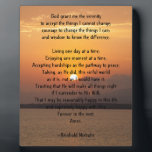 """Serenity Prayer Plaque<br><div class=""""desc"""">Gifts for those who you feel may need encouragement hope and strength on their journey through change,  recovery and self exploration</div>"""