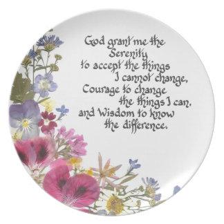 Serenity Prayer Plate