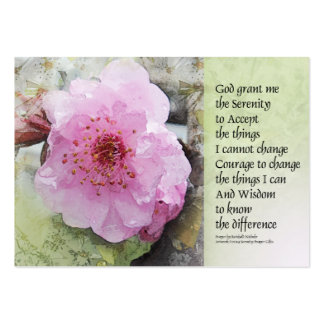 Serenity Prayer Plum Blossoms Large Business Cards (Pack Of 100)