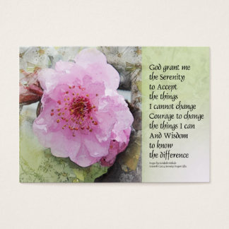 Serenity Prayer Plum Blossoms Business Card