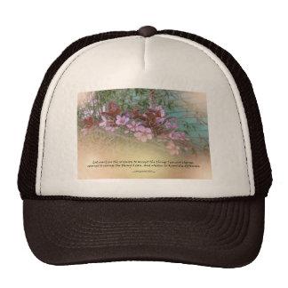Serenity Prayer Plum Blossoms Green House Trucker Hat