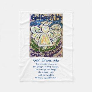 Serenity Prayer Poem Angel Custom Fleece Blankets
