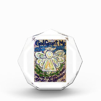 Serenity Prayer Poem Guardian Angel Paperweight Acrylic Award