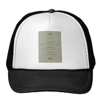 Serenity Prayer Poem Mesh Hat