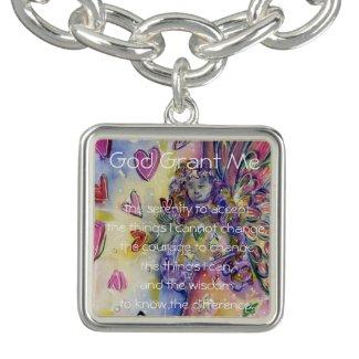 Serenity Prayer Poem Hearts Pendant Jewelry Charm