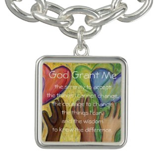 Serenity Prayer Poem Hearts Pendant Jewelry Charms