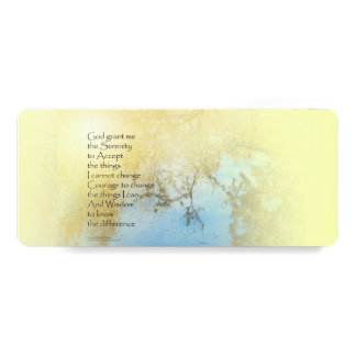 Serenity Prayer Pond Reflections Card