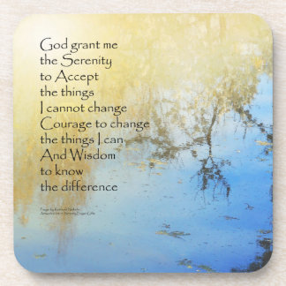 Serenity Prayer Pond Reflections Coasters