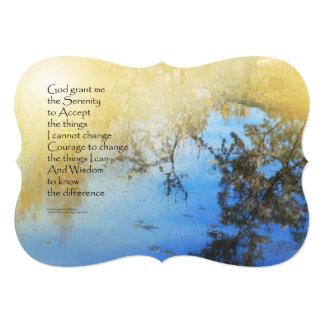 Serenity Prayer Pond Reflections 5x7 Paper Invitation Card