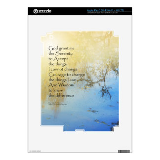 Serenity Prayer Pond Reflections iPad 3 Decals