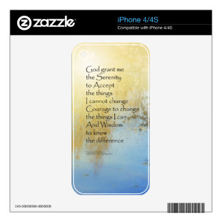 Serenity Prayer Pond Reflections iPhone 4S Decals