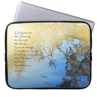 Serenity Prayer Pond Reflections Laptop Computer Sleeves