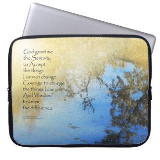 Serenity Prayer Pond Reflections Laptop Sleeve
