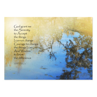 Serenity Prayer Pond Reflections Large Business Card