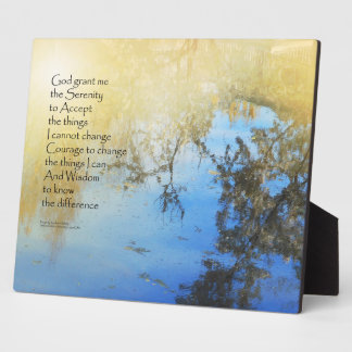 Serenity Prayer Pond Reflections Plaque