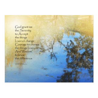 Serenity Prayer Pond Reflections Postcard
