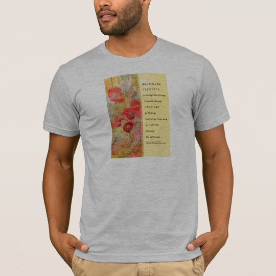 Serenity Prayer Poppies Abstract T-Shirt