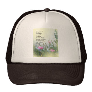 Serenity Prayer Poppies by the Shed Trucker Hat