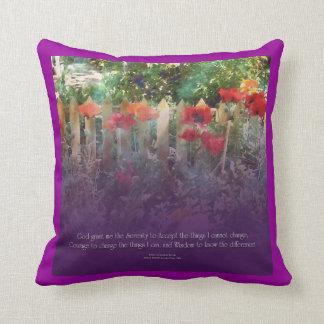 Serenity Prayer Poppy and Fence American MoJo Pill Pillow