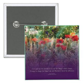 Serenity Prayer Poppy Button