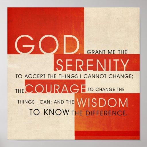 Serenity Prayer Poster