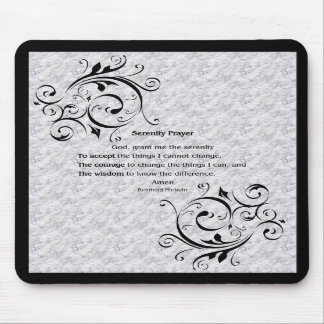 Serenity Prayer Poster Mouse Pads