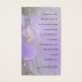 Serenity Prayer Purple Iris Profile Card