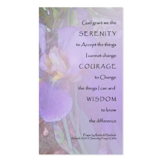 Serenity Prayer Purple Iris Profile Card Double-Sided Standard Business Cards (Pack Of 100)